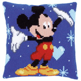 Cross Stitch Cushion Kit: Disney: Mickey Mouse By Vervaco