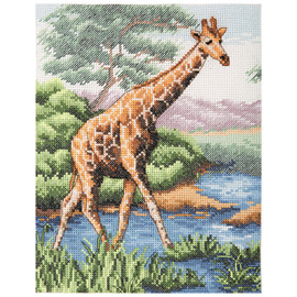 Counted Cross Stitch Kit: Essentials: Giraffe
