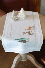 Embroidery Kit: Table Runner: Norwegian Wild Reindeer By Vervaco