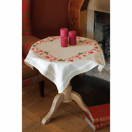 Embroidery Kit: Tablecloth: Christmas By Vervaco