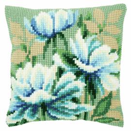 Cross Stitch Kit: Cushion: Japanese Anemones I By Vervaco