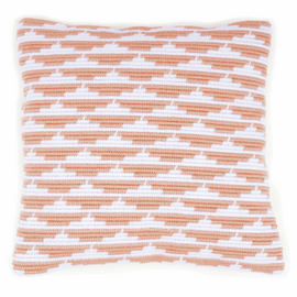 Angled Clamping Stitch Cushion Kit: Waves