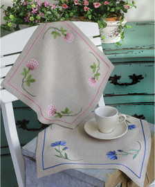 Embroidery Kit: Clover Pink: Tablecloth By Anchor