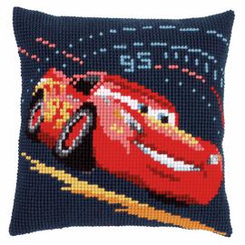 Cross Stitch Kit: Cushion: Disney: Cars - Lightning McQueen By Vervaco