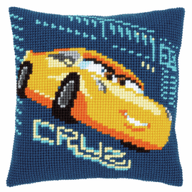 Cross Stitch Kit: Cushion: Disney: Cars - Cruz By Vervaco