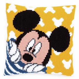 Cross Stitch Kit: Cushion: Disney: Mickey - Peek-a-Boo By Vervaco