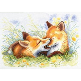 MISCHIEVOUS FOX Cross Stitch Kit by  MP Studia