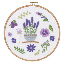 Embroidery Kit with Ring: Lavender By Vervaco