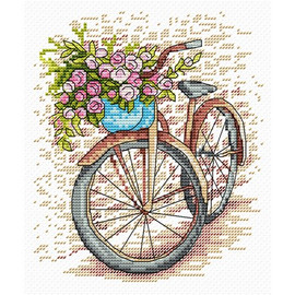 Bicycle Cross Stitch Kit by MP Studia