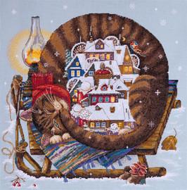 Cosy Winter Cross Stitch Kit By Merejka