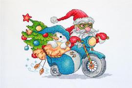 Christmas Racing Cross Stitch Kit By Merejka