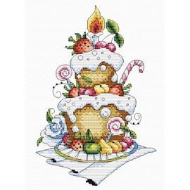 Fruit Dessert Cross Stitch Kit by MP Studia
