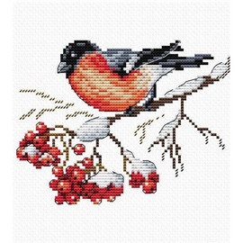 On the snowing Branch Cross Stitch Kit by MP Studia