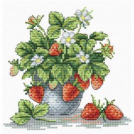 Tasty Strawberries Cross Stitch Kit by MP Studia