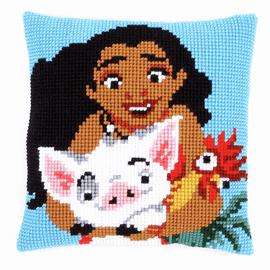 Cross Stitch Kit: Cushion: Disney: Moana By Vervaco
