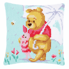 Counted Cross Stitch Kit: Disney: Winnie in the Rain By Vervaco