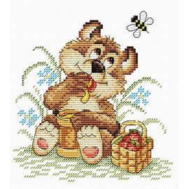 Bear Happiness Cross Stitch Kit by MP Studia