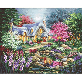 Cottage Pond Cross Stitch Kit by Luca S