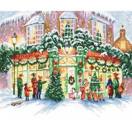 Christmas Shop Cross Stitch Kit by Luca S
