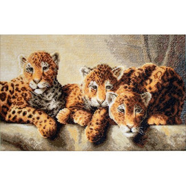 Leopards Cross Stitch Kit by Luca s