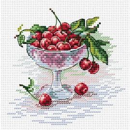 Cherry Treat Cross Stitch Kit by MP Studia