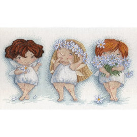 Blooming Panises Cross Stitch Kit By Mp Studia