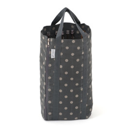 Dark Grey Spot knitting Bag with Pin Storage Hobby Gift