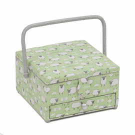 Sheep Large Square Sewing Basket Hobby Gift