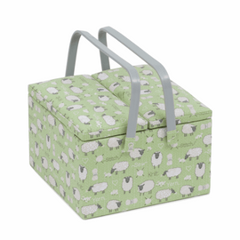 Sheep Large Twin Lid Sewing Box Hobby Gift