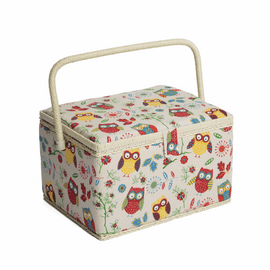 Owl Large Sewing Box Hobby Gift