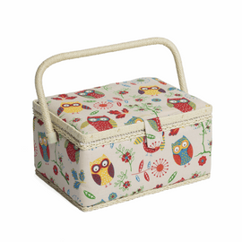 Owl Medium sewing Box Hobby Gift