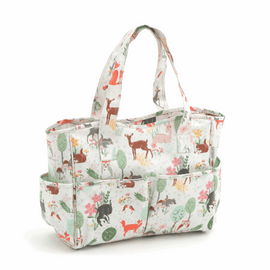 Woodland Animals PVC Sewing Bag Hobby Gift