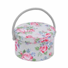 Rose Round Sewing Box Hobby Gift