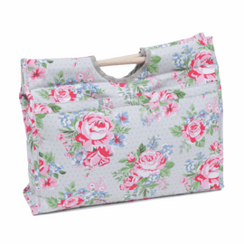 Roses Wooden Handle Craft Bag Hobby Gift