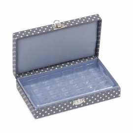Grey Spot Bobbin Storage Box Hobby Gift