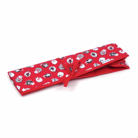 Dotty Sheep Knitting Pin Roll Hobby Gift