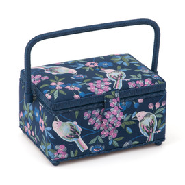 Floral Birds Small sewing Box Hobby Gift