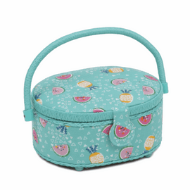 Fruity Small Round sewing Box Hobby Gift