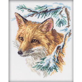 The fox Cross Stitch Kit by RTO