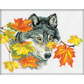 Wolf Cross Stitch Kit by RTO