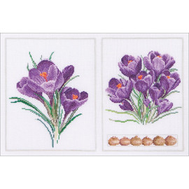 Crocus Panel Cross Stitch Kit by Thea Gouverneur