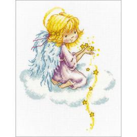 Star Angel Cross Stitch Kit by RTO
