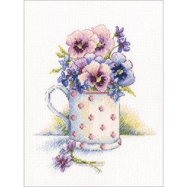 First Violets Cross Stitch Kit by RTO