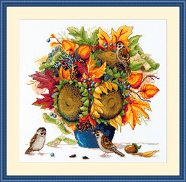 Sunflowers Cross Stitch Kit By Merejka
