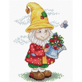 Dwarf in a yellow Hat Cross Stitch Kit by MP Studia