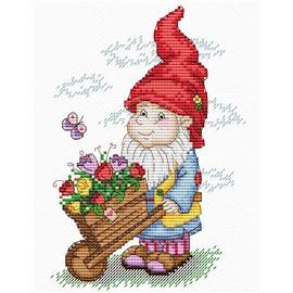 Dwarf in Red Hat Cross Stitch Kit by MP Studia