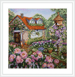 House in Roses Cross Stitch Kit By  Merejka