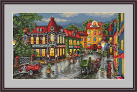 The Old City Cross Stitch By Merejka