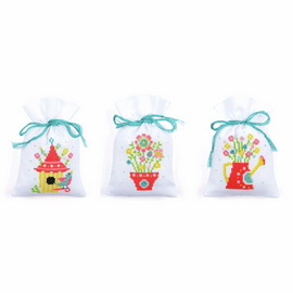 Counted Cross Stitch: Pot-Pourri Bags: Spring: (Set of 3) By Vervaco