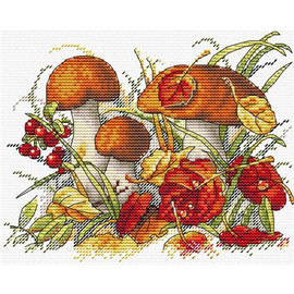 Autumn forest Treasures Cross Stitch Kit by MP Studia